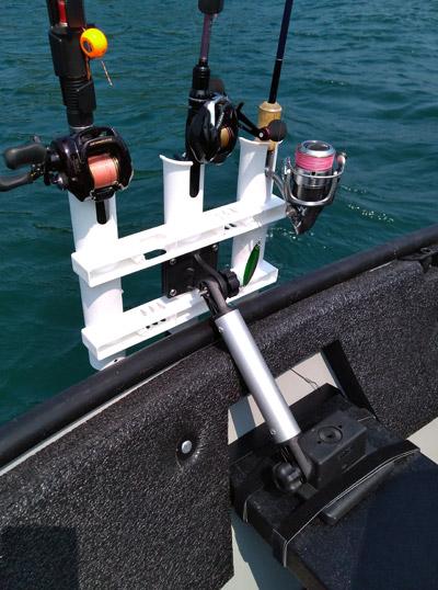 「ポータボート」ロッドホルダーの艤装方法 シートへの取り付け