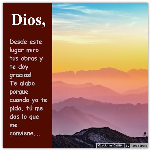 Oración Gracias mi Dios por tantas Bendiciones