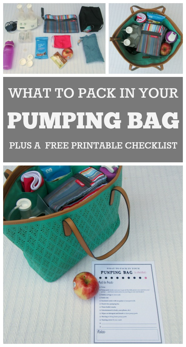 How to pack your pumping bag: A great article for new moms going back to work who want to keep breastfeeding. Includes a printable checklist of things to include in your pumping bag.