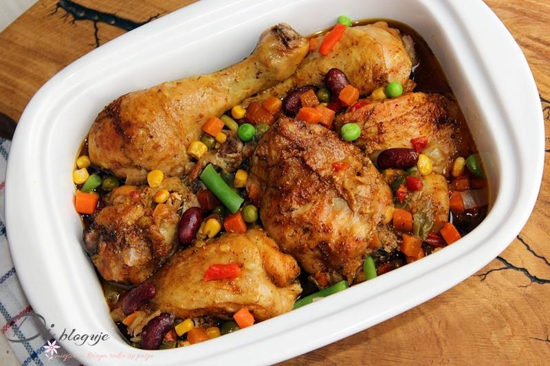 Kurczak pieczony z mieszanką meksykańską