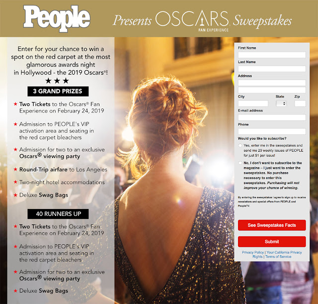 People Magazine contest screenshot