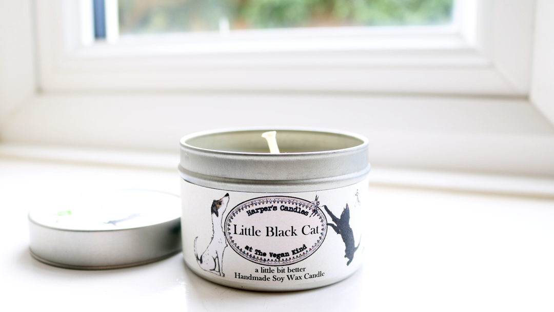 Harper's Candles Little Black Cat Soy Wax Candle