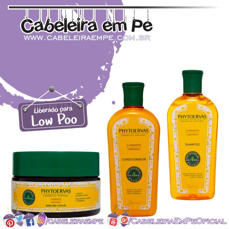 Shampoo e Condicionador e Máscara  Iluminador - Phytoervas (Low Poo)