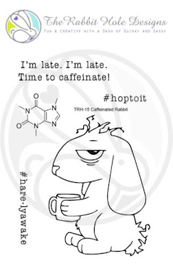 Caffeinated Rabbit 3x4 Clear Stamp
