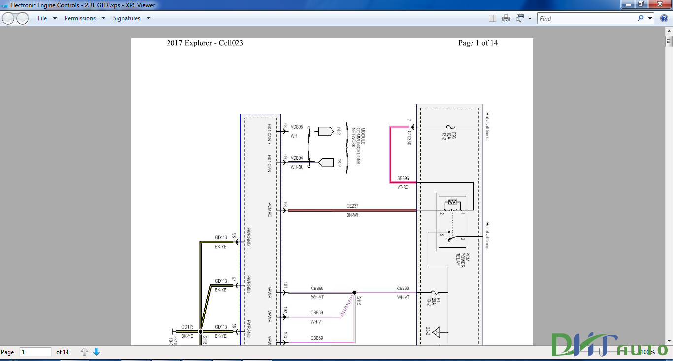 Ford Fiesta B229 Wiring Diagram Workshop Manuals