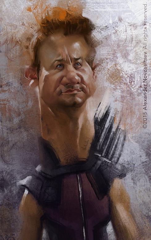 Jeremy Renner por Alexander Novoseltev