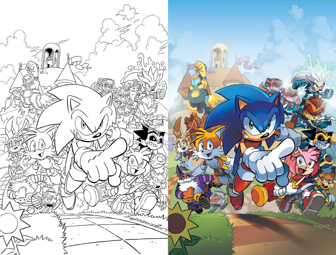 Matt Herms Comic Art And Illustration Sonic The Hedgehog 241 Cover