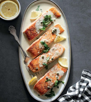 Creamy Salmon Piccata Recipe