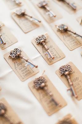 wedding favor keys