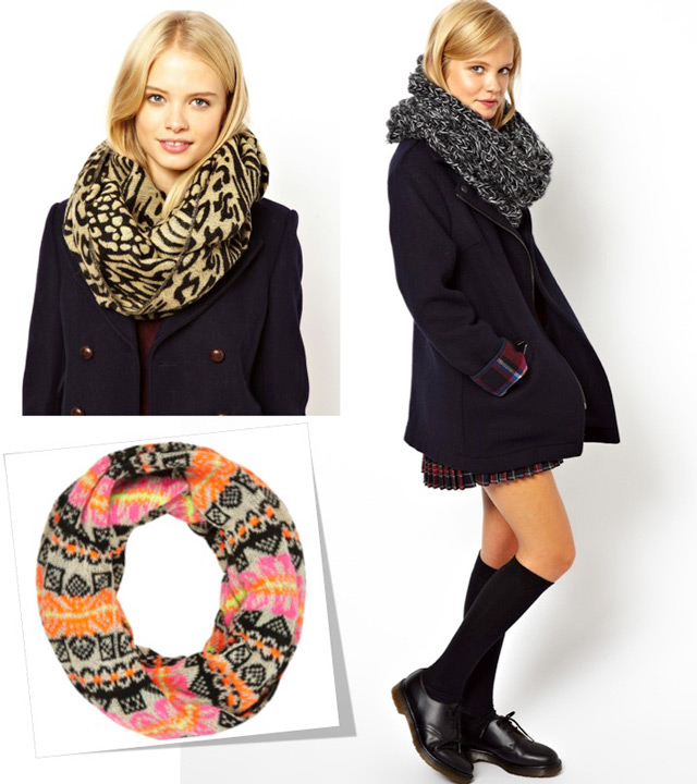 snood, infinity scarf, tuba šal cijana
