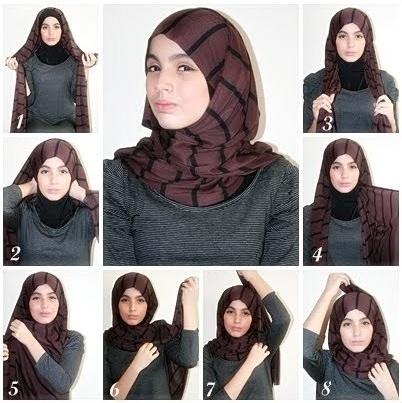 tutorial hijab simple dan mudah