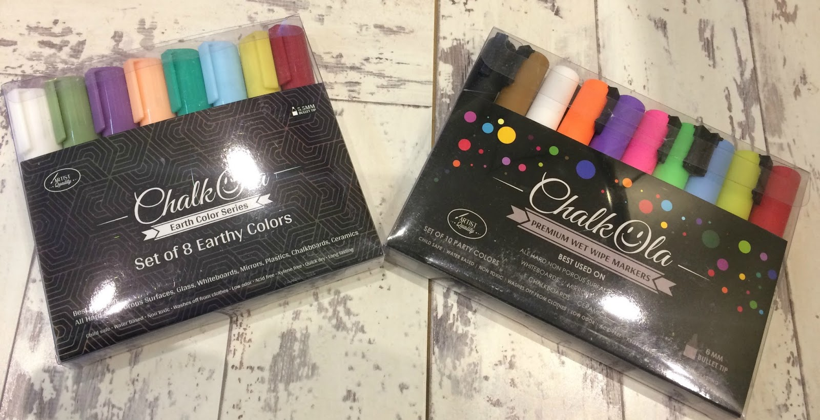 Chalkola Markers - Party Colours and Earthy Colours