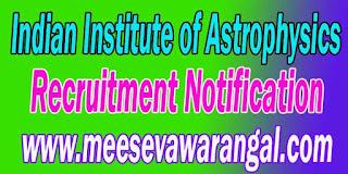 IIAP (Indian Institute of Astrophysics) Recruitment Notification 2016 www.iiap.res.in