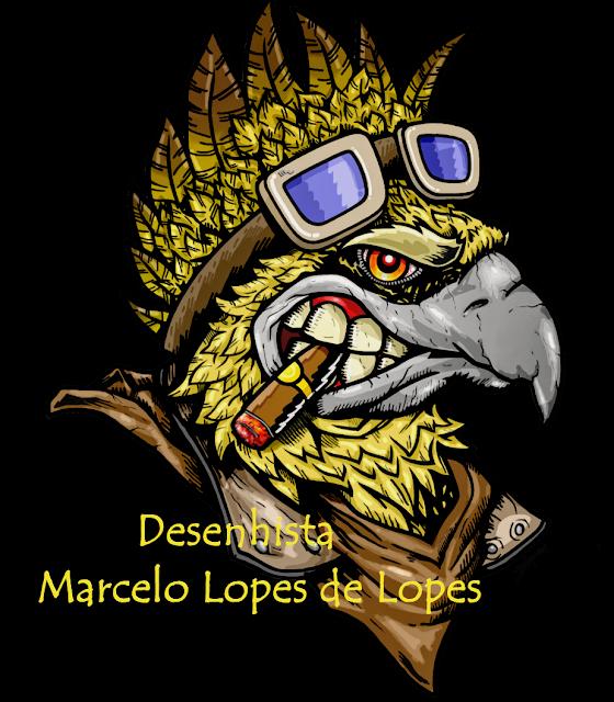 Brasão criado pelo Desenhista Marcelo Lopes de Lopes