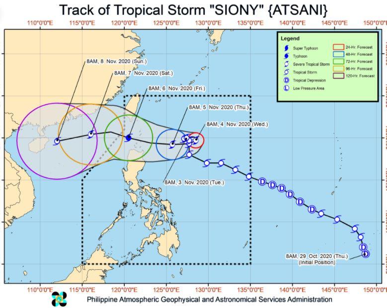 'Bagyong Siony' PAGASA weather update November 3, 2020