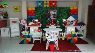 Decoração mesa de aniversário Show da Luna