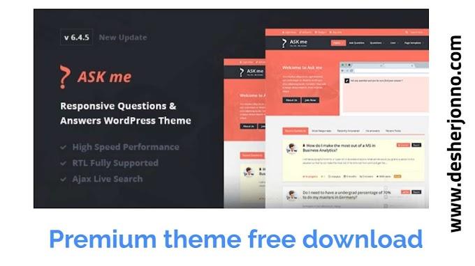 Ask Me Question : Premium WordPress theme free download