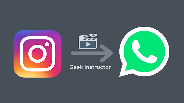 Share Instagram videos on WhatsApp