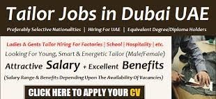 Tailor and Pattern Maker Job Recruitment in Textiles Company Abu Dhabi