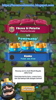 akhir kemenangan di game clash royale