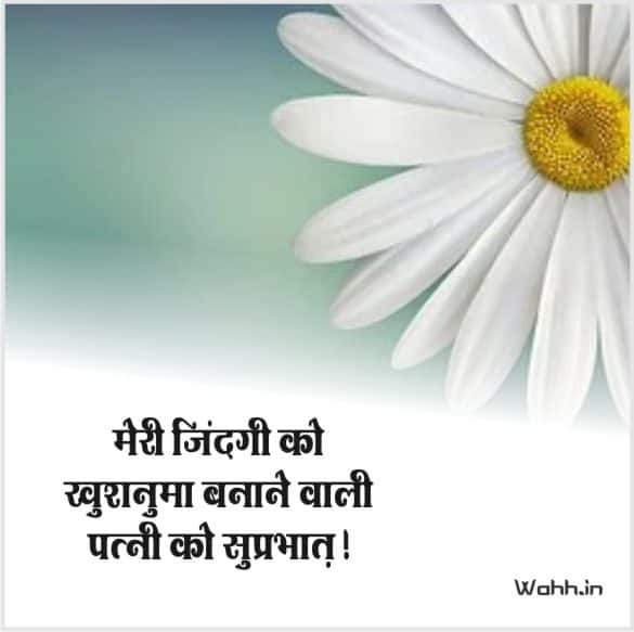 2021  Good Morning Romantic Messages To Wife In Hindi