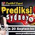 Prediksi Togel Sydney 20 September 2021