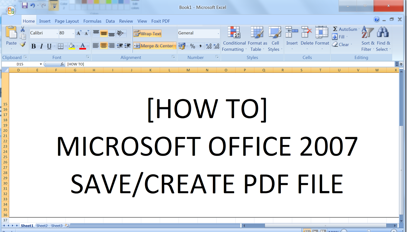 As in 2007 office pdf save add