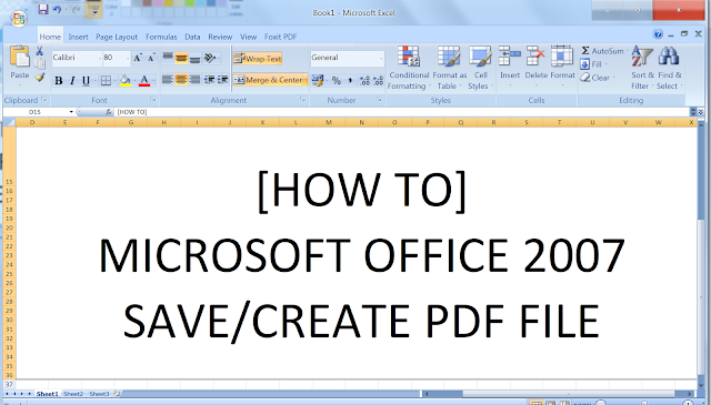 How to create PDF using Microsoft Excel 2007. Download the Add-in Here