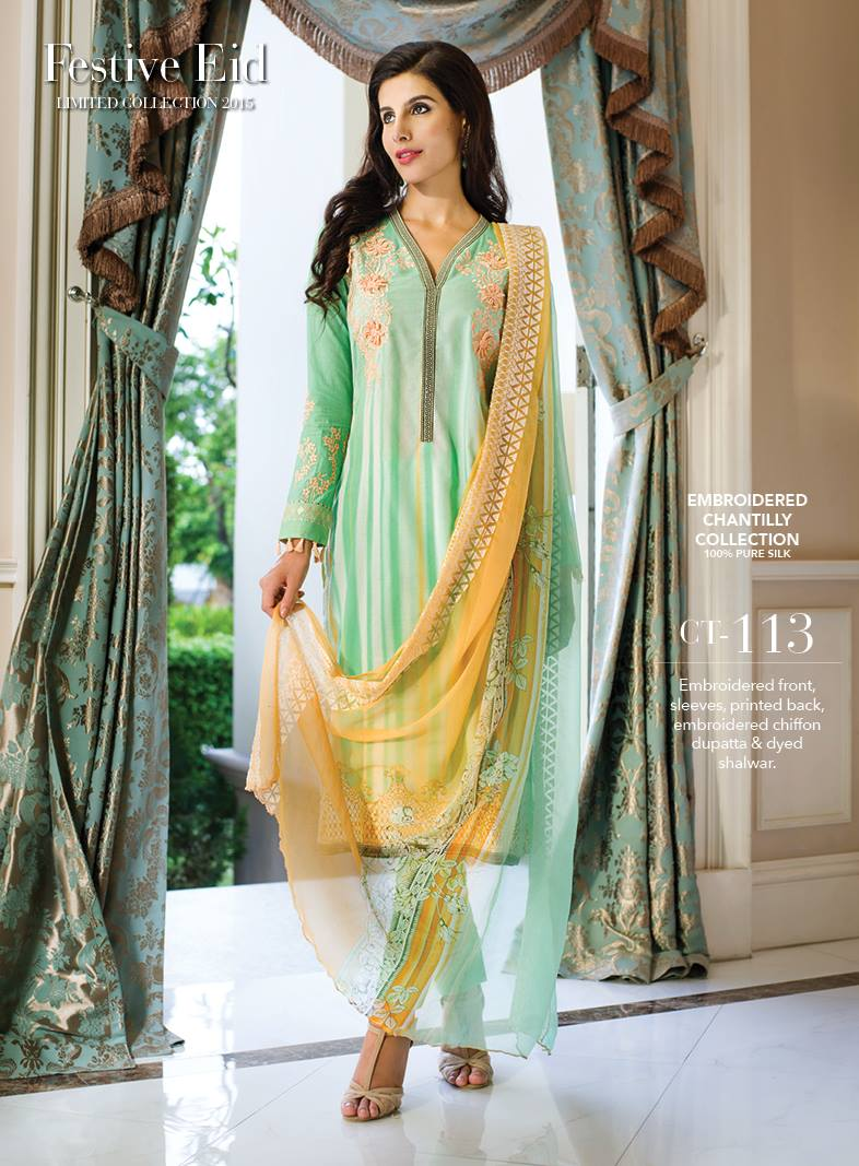 e71cad7a42 8 beautiful dresses for Pakistani girls for Eid - hair style