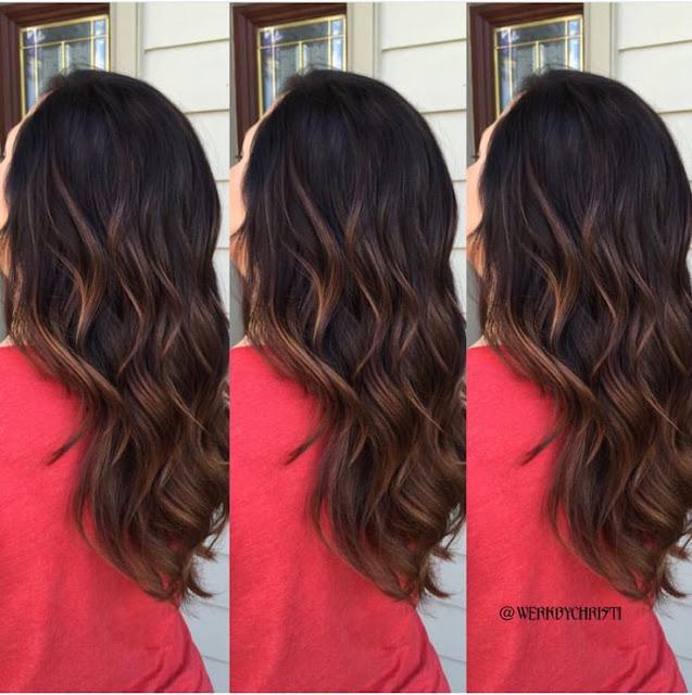 Balayage Ombré For Brunette Dark Hair