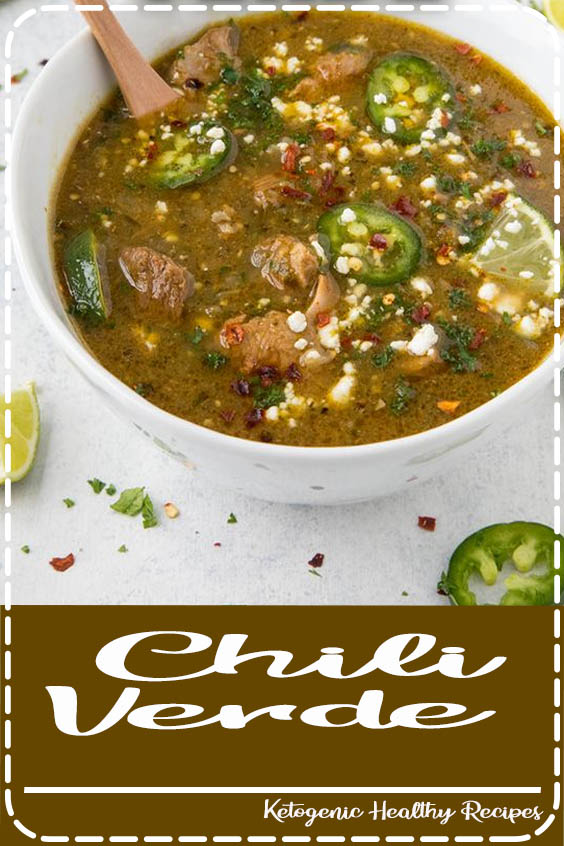 This chili verde recipe is made with tender pork shoulder that has been seasoned and sear Chili Verde
