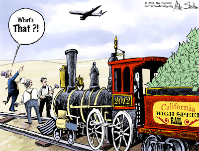 Image result for California high-Speed Rail Fiasco cartoon