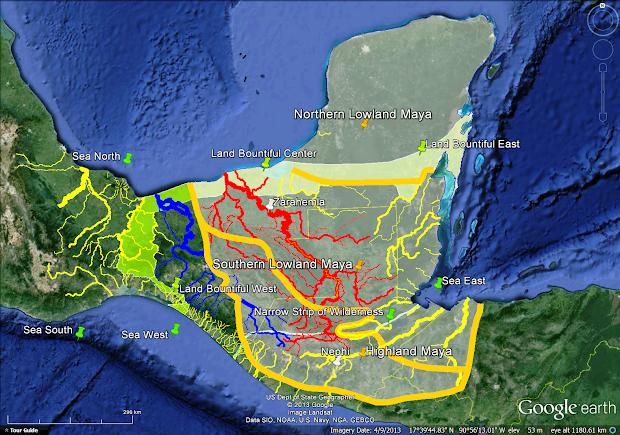 Maya World Map.Map Of Where The Maya Live Imgurl