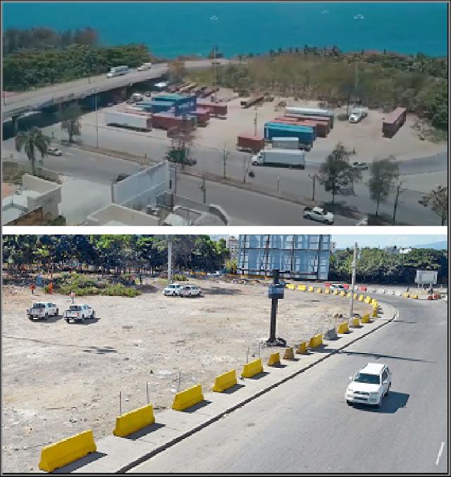 Ayuntamiento de Santo Domingo Oeste desaloja camioneros de la autopista 30 de mayo