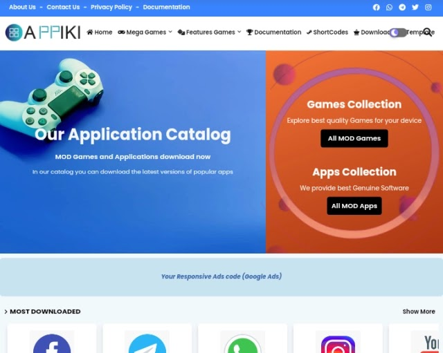 Appiki Apps Store Blogger Template Premium Free Download