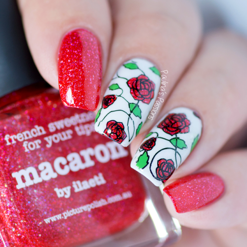 Glitter Bomb Roses Red Rose Stamping Nail Art Essentials Video Tutorial