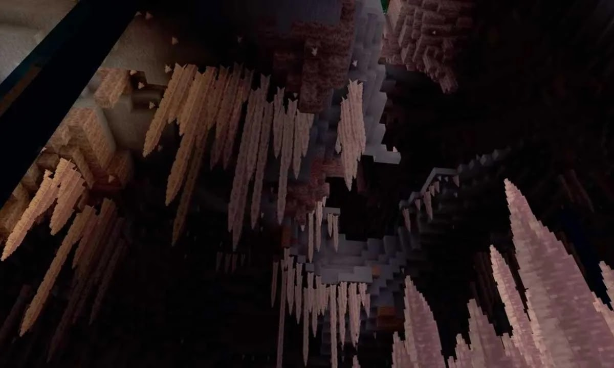 Stalactites in Minecraft Cliffs and Caves: how they are used and where to find them