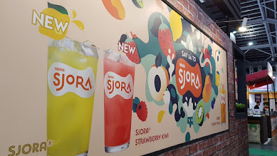 Nestle Sjora mural at the Nestle booth.