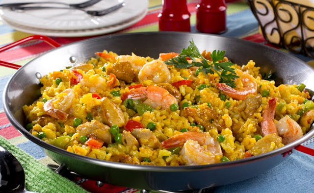 Seafood Rice Skillet #dinner #recipes