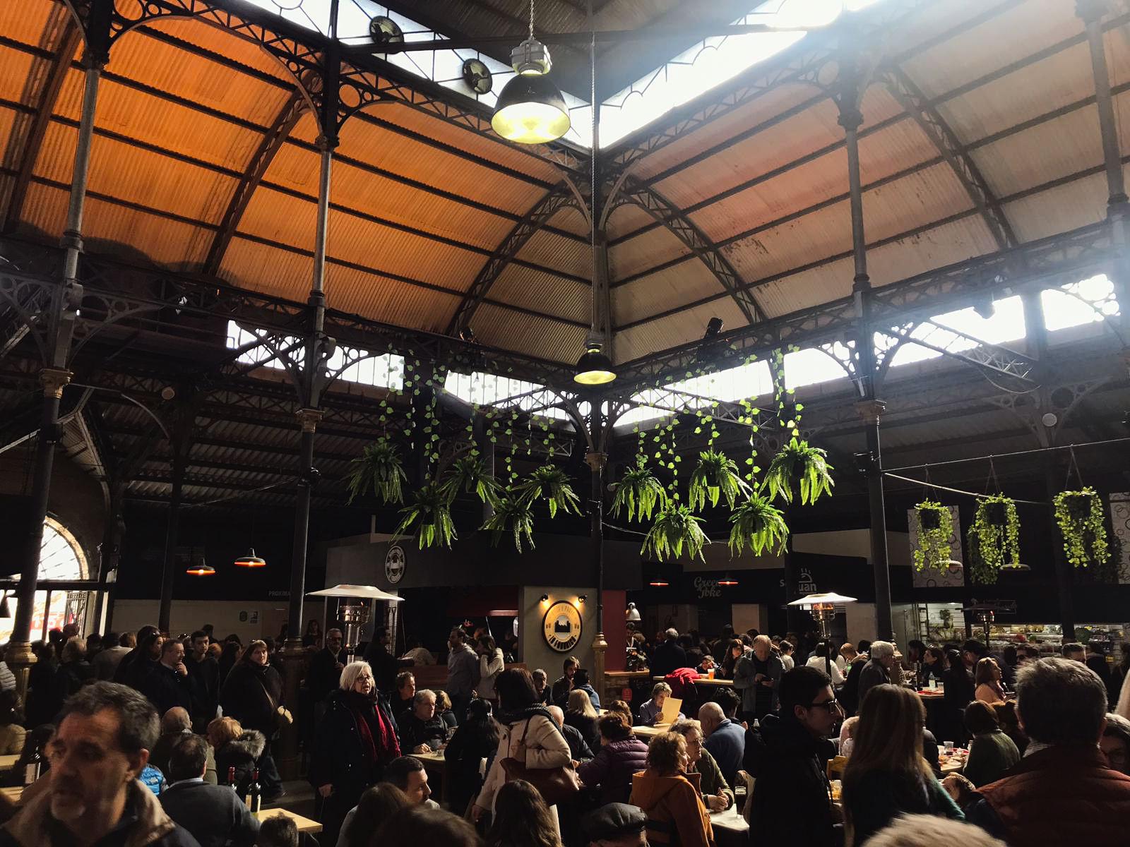 Mercado gastronomico em Montevideu