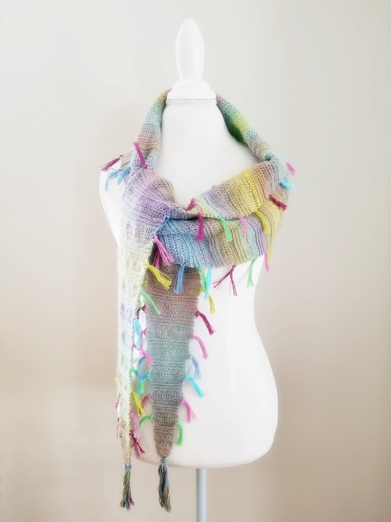 "Free ""Find Your Tribe Scarf"" crochet pattern from Felted Button"