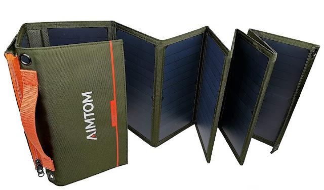 aimtom solar power USB charger
