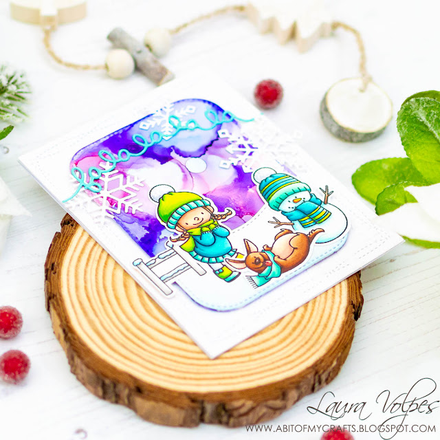 Get Cracking On Christmas | Alcohol Inks Winter Sky | My Favorite Things Snow Buddies