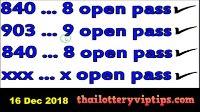 Thailand lottery 3up direct number VIP Set 16 December 2018