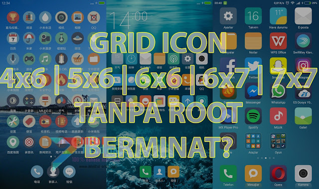 Sejak Kapan Merubah Grid Icon Miui 8 Menjadi 4x6, 5x6, 6x6, 6x7 Harus Root Terlebih Dahulu?! Ini Buktinya
