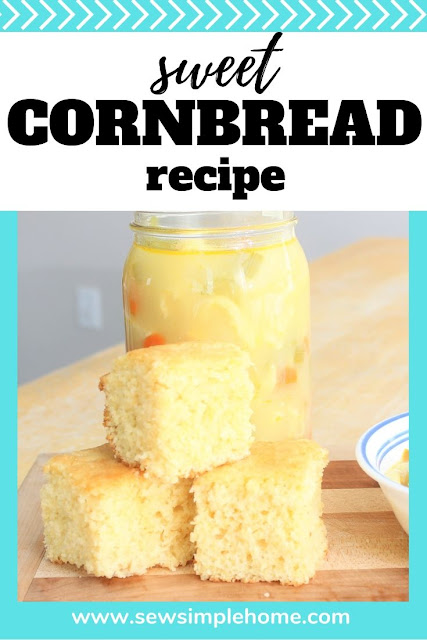 Homemade cornbread is always a great choice.  You'll love this easy sweet cornbread recipe.
