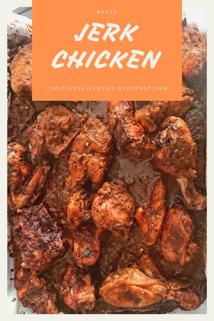 pinning image for Jerk Chicken Bake
