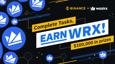 Binance & WazirX Bounty Reward Total $ 100.000