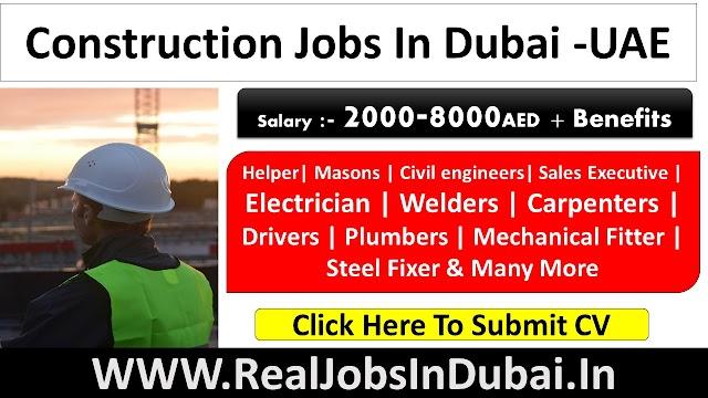 Construction Jobs In Dubai - UAE