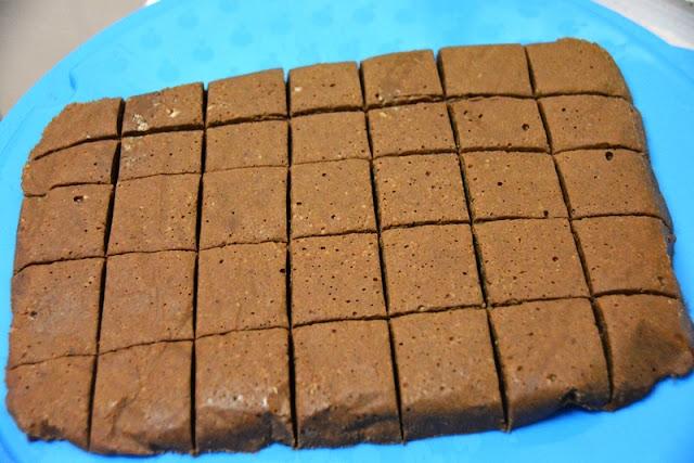 chocolate fudge cubes